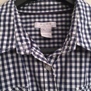 cotton gingham Alfred Sung button up shirt